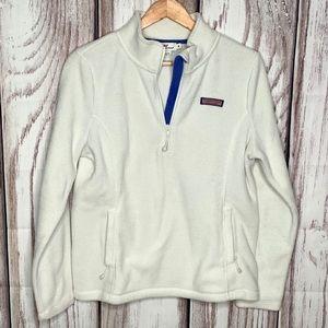 Just in! Vineyard Vines fleece jacket white medium